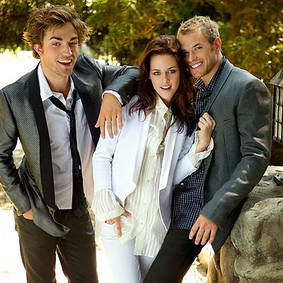 rob pattinson, kristen stewart, kellan lutz- in style magazine