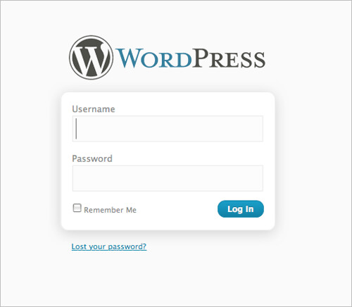 WordPress 2.7 login window