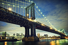 Manhattan Bridge (Jrg Dickmann) Tags: nyc newyorkcity bridge ny newyork topf25 skyline brooklyn river geotagged lights cityscape dusk manhattan dumbo brooklynbridge manhattanbridge eastriver canon5d nightfall fultonferry empirefultonferrypark canon1740 empirefultonferrystatepark empirefulton geo:lat=40705 geo:lon=73988197