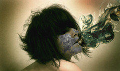 Toxins (aReasontoHope) Tags: toxic chemicals smoke exhaling inhaling two people couple girl light shadow face covering taking over shoulders teenager hair photomontage photoshop