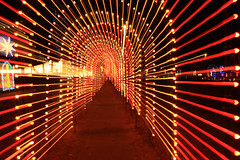 Light Tunnel Zoom - explore (Marvin Bredel) Tags: christmas holiday oklahoma night lights movement zoom tunnel noflash christmaslights explore kingfisher holidaylights marvin lightsinmotion interestingness423 i500 marvin908 canon40d kingfisherinlights bredel marvinbredel