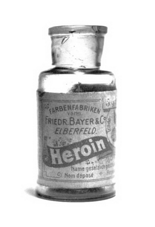 bottle of heroin
