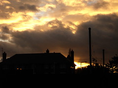 In the Cauldron of the Sky (unleicaly) Tags: sky clouds december afternoon settingsun millhill