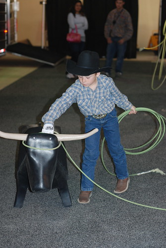 We even saw ropin and mutton busting by little buckaroos like this one.