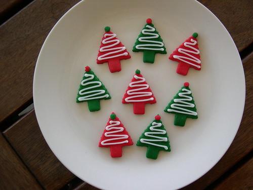 Árvore de Natal toppers queque