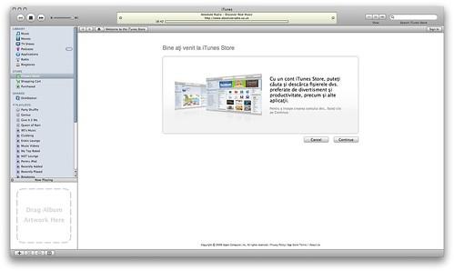 Bine ati venit la iTunes Store