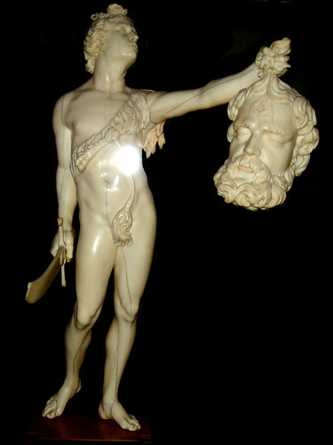 Marble David & Goliath