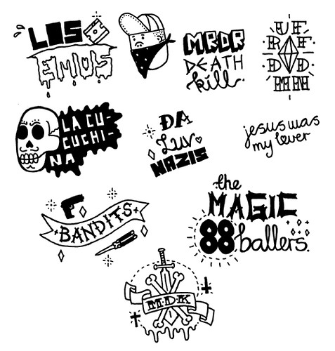 gang tattoo symbols