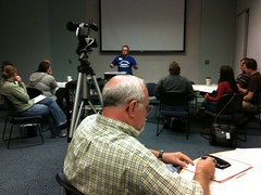 T-rave talking about blogging #podcamptopeka