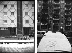 West & East Berlin. (flevia) Tags: winter bw snow cold berlin analog blackwhite bn communism nophotoshop urbanjungle ilford biancoenero eastberlin dyptich westberlin nikonfa berlino ilforddelta3200 foma damncold hcsp analogico fomapan nikkor35mmf2 fomapan200 scannednegatives epsonv700 dittico sigma24mmf28 autaut epsonperfectionv700photo flevia fomapancreative200 imanalog thedyptichproject berlindyptich
