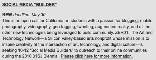 Get paid to attend the 01SJ Biennial