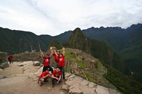 Machu Picchu Victory Pose