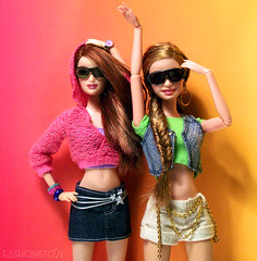 Big Red & Ginger (fashionisto2k) Tags: summer fashion hair dolls barbie drew redhead clothes lara accessories mattel fever braid fishtail fashionfever rebodied