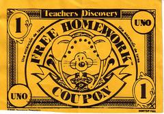 Rat Bucks: Free homework pass in spanish class.