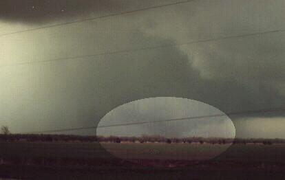 Haven, Ks. March 13, 1990 - The Hesston, Ks tornado before it hit Hesston