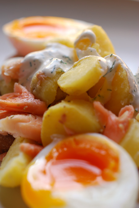 smoked trout and potato salad