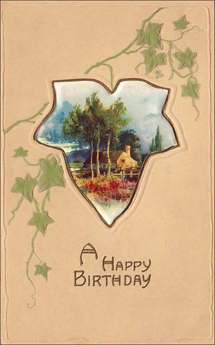 "Vintage Birthday Card ""08"