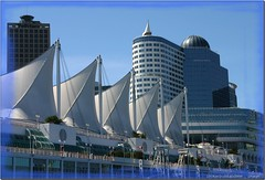Vancouver Harbour (lookaroundandsee) Tags: blue sky canada architecture kanada abigfave