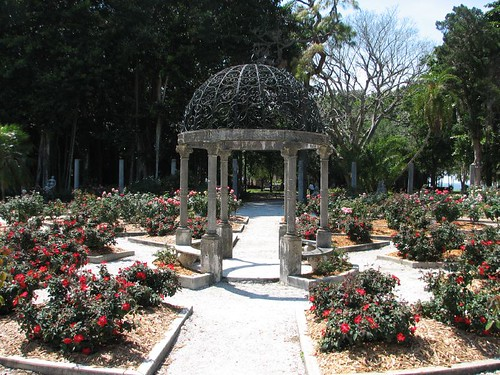 the center of the garden
