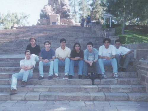 Junto a unos amigos argentinos en el cerro de Mendoza, Argentina