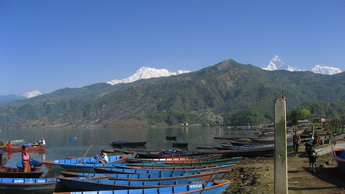 (from left) Dhaulagiri, Annapurna I, and Machhapuchhre