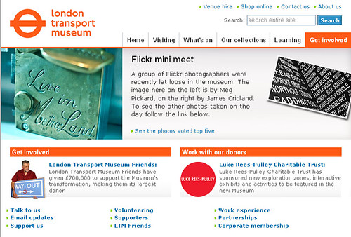 Flickr Mini Meet on London Transport Museum Website