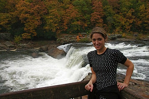 Jessa at Ohiopyle Falls