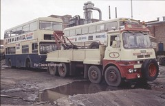 Going up North. (Lady Wulfrun) Tags: bus metal truck carlton mud yorkshire dump oil breakers 1986 scrap tow recovery fleetline mlh barnsley goodwin dms wrecker dealers 5552 adderleystreet wmpte mlh530l tgoodwin