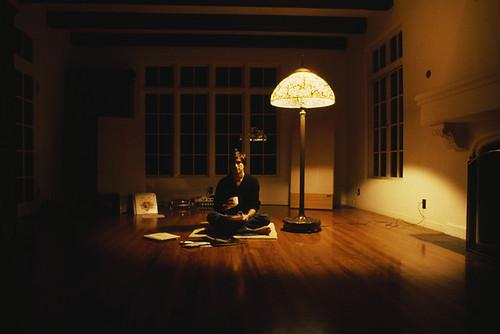 Steve Jobs en su casa