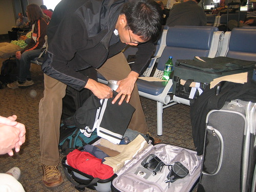 Spencer packing for the 2nd time