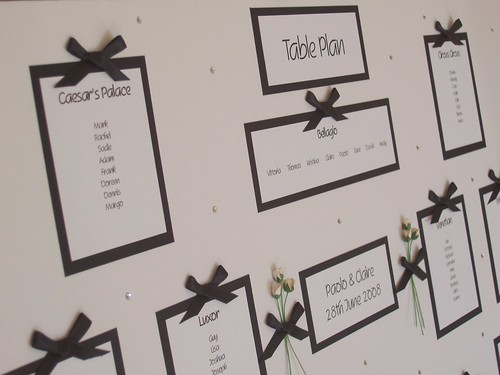 Black White Wedding Seating Table Plan by Bitley Batley
