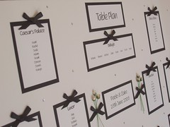 Black & White Wedding Seating/Table Plan by Bitley Batley