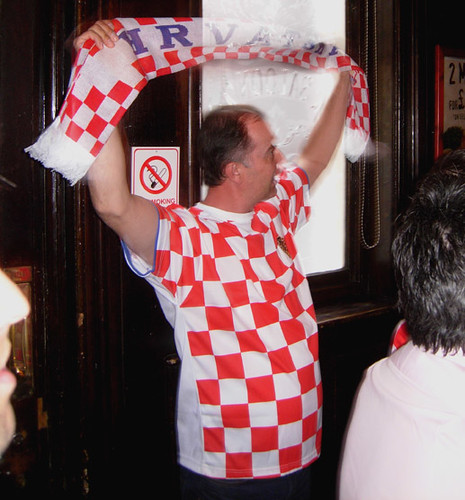 Croatian football fan, London