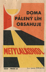 czechoslovakian matchbox label (maraid) Tags: food glass warning czech prague praha alcohol packaging czechrepublic 1960s poison 1962 homebrewing czechoslovakia czechoslovakian matchboxlabel methanol solosusice uuzo