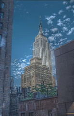 New York Hotel Room View Empire State HDR Mantiuk