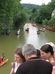 Costume Boats Showboating (rearechelon) Tags: germany neckar tbingen badenwrttemberg stocherkahnrennen neckarinsel stocherkahnrennen2008