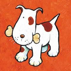 Cachorro osso (Lucia Helena Cesar) Tags: feltro desenhos figuras riscos moldes patchcolagem