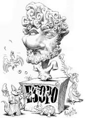 ESOPO (Morales de los Ros) Tags: writers caricaturas philosophers caricatures escritores filsofos
