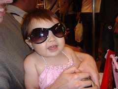 Stylin' with mom's sunglasses