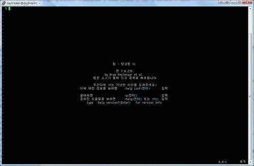 PuTTY 한글/영문 글꼴 분리