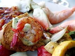 bruchetta with shrimp