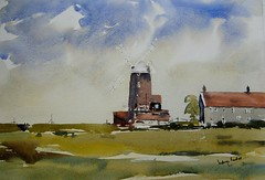 cley windmill north norfolk (melvynswatercolours) Tags: windmill painting norfolk watercolour cley