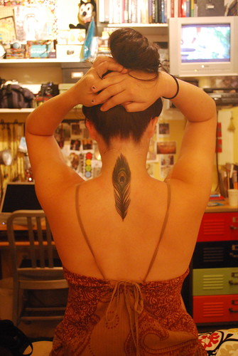 peacock feather tattoos. Peacock Feather Tattoo