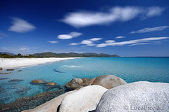 Azur (LucaPicciau) Tags: sardegna ca sea summer sky italy sun holiday beach clouds relax freedom bay holidays paradise mediterranean mediterraneo nuvole mare sardinia villasimius wind south sunny resort tropical transparent sole brezza azzurro azur sud celeste tanka baia sarrabus lupi simius breez i lupi75 timiama picciau lucapicciau celestiale
