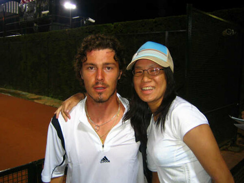 Isabelle Chrun and Marat Safin