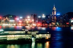 Typical Hong Kong night again (Lefty Jordan) Tags: leica hk night hongkong lights kodak again m6 victoriaharbour colorplus200 summitar5cmf2