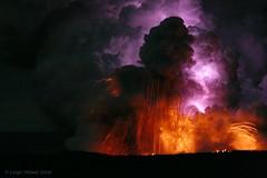 Lava Blast and Electric Lightning Bolt Within a Lava Plume  ~ Island of Hawaii (SparkyLeigh) Tags: electric wow spectacular ash blast pele naturesfinest naturesfireworks volcanohawaii theunforgettablepictures theunforgettablepicture lavaplumehawaii massivelavaplume explosivelavasea leighhilbertlavaphotos stunninglavaphotos amazinglavaphotos lavaplumenightmoonlit leighhilbertlavaphotography moltenlavablast lavaplume lavaflashexplosiveplumemagma sulfurdioxideplume glassexplosive staticbolt lightningbolt volcanolightning surreallava unbelievablephotos lightninglavabolt lavaplumeelectricity electriclava volcanogoddessspeaks lavaoceanplumeexplosive moonlitlavaplume moltenredlava