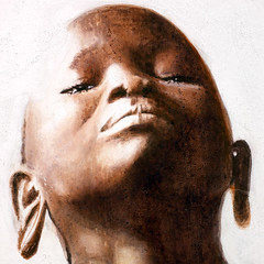 surma girl-detail (clojovi) Tags: africa portrait woman art ink portraits work painting african traditional tribes ethiopia tribe surma inkpainting ethiopie africanportrait africangirl africanbeauty peinturelencre ethiopiagirl africatribes