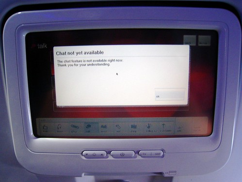 Chat Not Available On Virgin America
