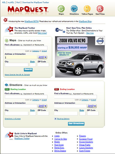 MapQuest Introduces New (Beta) Look, Features - Search Engine Land